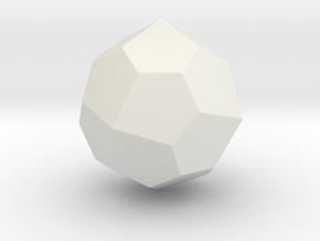 Pentagonal Icositetrahedron (dextro) -1In-Round V1 in White Natural Versatile Plastic