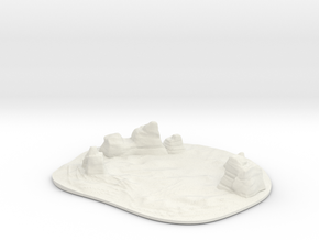 Lost in Space - Invaders 5th Dimension - Landscape in White Natural Versatile Plastic