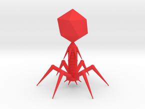 Bacteriophage in Red Processed Versatile Plastic