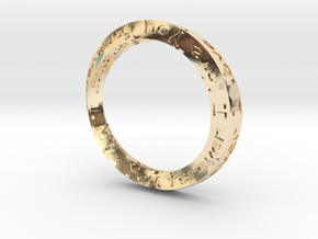 Forever Love 18mm ring in 14K Yellow Gold