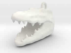 Crocodile head 2101131742 in White Natural Versatile Plastic