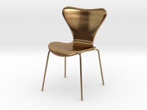 Fritz Hansen Series 7 Chair - 6.8cm tall in Natural Brass