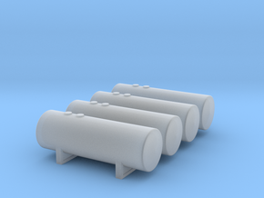 1:400 Fuel Storage Tanks 4pc in Smooth Fine Detail Plastic