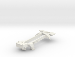 """3/4"""" Scale Southern Railway Ms-4 & Ps-4 Rear Frame in White Natural Versatile Plastic"""