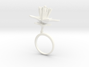 Lemon ring with one large flower in White Processed Versatile Plastic: 7.25 / 54.625