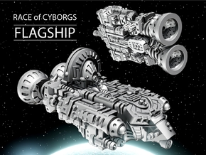 FLAGSHIP for Cyborg Race in White Natural Versatile Plastic