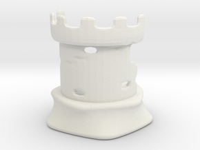 Rook - Dogs Of War Chess Piece in White Natural Versatile Plastic