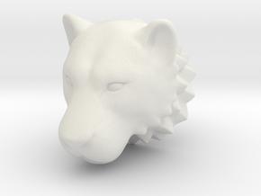 Lioness head 2012030803 in White Natural Versatile Plastic