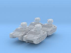 Praga R1 Tank (x4) 1/220 in Smooth Fine Detail Plastic
