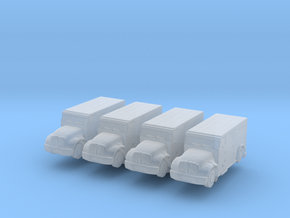 International Armored Truck (x4) 1/400 in Smooth Fine Detail Plastic
