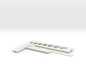 Caliber - Gauge - Circle sizer in White Natural Versatile Plastic