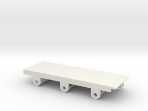 BROAD 6 Wheeled TENDER Chassis in White Natural Versatile Plastic