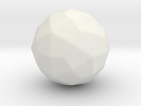 Deltoidal Hexecontahedron - 1 Inch - Round V2 in White Natural Versatile Plastic