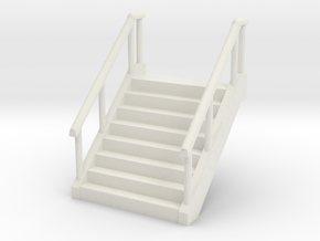 Stairs (W45mm H60mm) 1/48 in White Natural Versatile Plastic