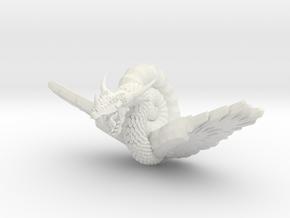 Nautiloid Dragon Winged in White Natural Versatile Plastic