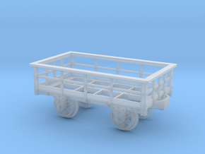 FR 3T Slate Wagon Unbraked 5.5mm Scale in Smooth Fine Detail Plastic
