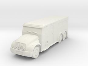 International Armored Truck 6x6 1/76 in White Natural Versatile Plastic