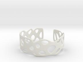 Cellular Bracelet Size L in White Natural Versatile Plastic
