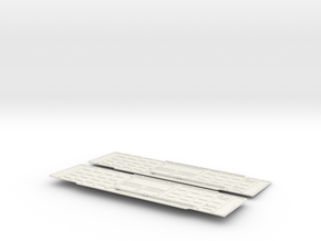 GN boxcar sides waffle O scale 4200 in White Natural Versatile Plastic