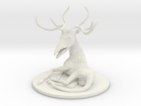 Beaked deer in White Natural Versatile Plastic