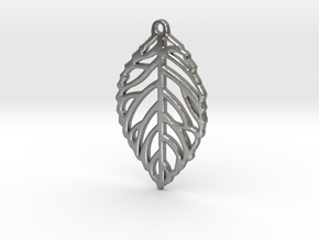 Leaf Pendant / Earring in Natural Silver