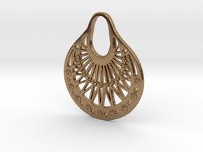 Ornamental Pendant / Earring in Natural Brass