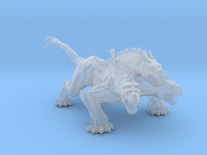 King Cerberus miniature model fantasy game dnd rpg in Smooth Fine Detail Plastic