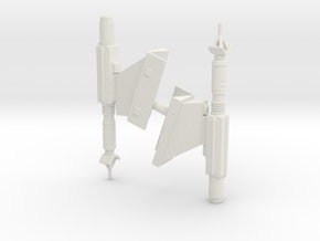 1/1400 USS Saratoga NCC-31911 Sensor Pods in White Natural Versatile Plastic