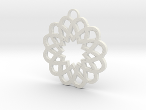 Star Pendant in White Natural Versatile Plastic