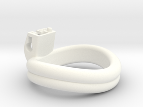 Cherry Keeper Ring G2 - 49x46mm (WO) -8° ~47.5mm in White Processed Versatile Plastic