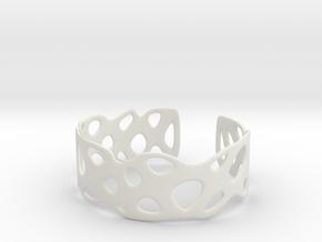 Cellular Bracelet Size M in White Natural Versatile Plastic