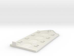 Gevel schaal N model 3 in White Natural Versatile Plastic
