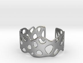 Cellular Bracelet Size S in Natural Silver