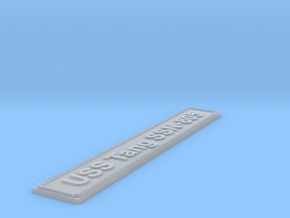 Nameplate USS Tang SSN-805 in Smoothest Fine Detail Plastic