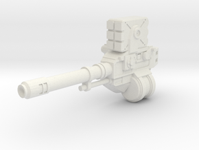 Autocannon Left Side [5mm Transformers Weapon] in White Natural Versatile Plastic