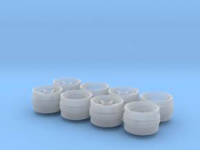 TE37V 815-55 1/64 Scale Wheels in Smooth Fine Detail Plastic