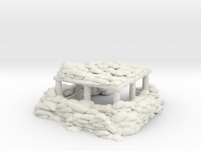 Sandbag Bunker 1/72 in White Natural Versatile Plastic