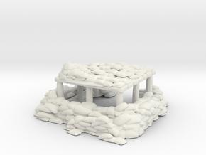Sandbag Bunker 1/120 in White Natural Versatile Plastic