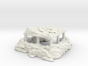 Sandbag Bunker 1/160 in White Natural Versatile Plastic