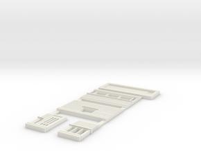 Weegbrug-hokje schaal N (Schoonebeek) in White Natural Versatile Plastic