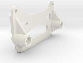Team Losi XX A-4110 chassis brace in White Natural Versatile Plastic