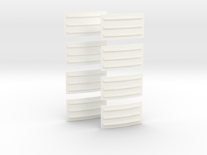 Apollo SM Small Rad Panels Set of 8- 1:35 in White Processed Versatile Plastic