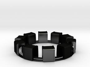 Ring Of Transformers in Matte Black Steel