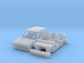 Yugo 45 with wheels and tyres in Smooth Fine Detail Plastic