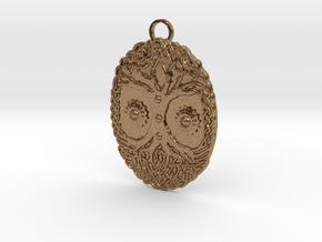Celtic Tree Pendant in Natural Brass