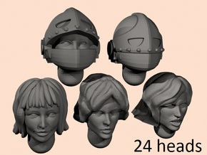 28mm Space nun heads in Smoothest Fine Detail Plastic