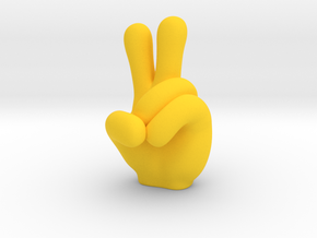 hand in Yellow Processed Versatile Plastic