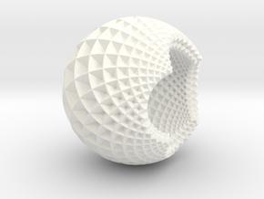 Fractal Bulb HD5 in White Processed Versatile Plastic