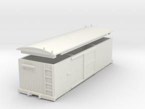 USMRR Boxcar in White Natural Versatile Plastic