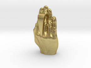 Hands Up (non-precious metals) in Natural Brass